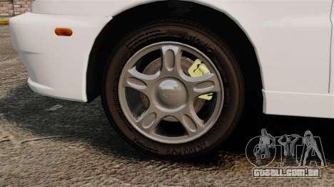 Daewoo Lanos 1997 Cabriolet Concept para GTA 4 vista de volta