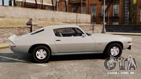 Chevrolet Camaro Z28 1970 para GTA 4 esquerda vista
