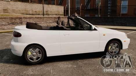 Daewoo Lanos 1997 Cabriolet Concept para GTA 4 esquerda vista