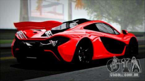 McLaren P1 2014 para GTA San Andreas esquerda vista
