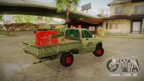 Água de reparação UAZ 2360 SA para GTA San Andreas vista direita