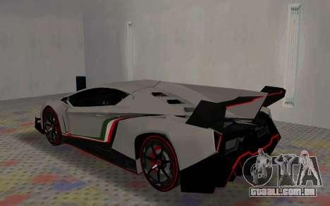 Lamborghini Veneno Advance Edition para GTA San Andreas vista direita