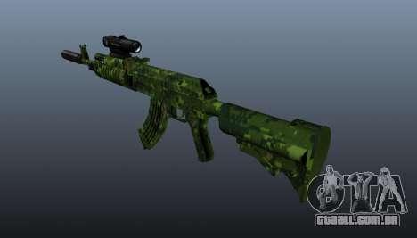 AK-74 em camuflagem para GTA 4 segundo screenshot