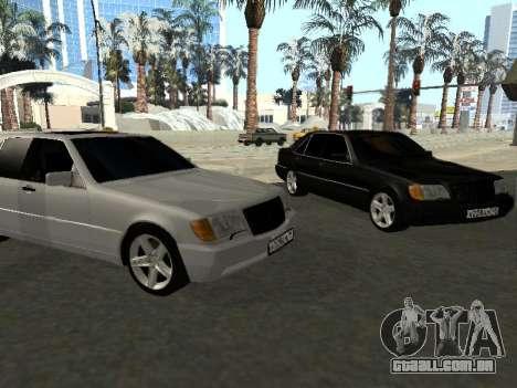 Mercedes-Benz W140 S600 para GTA San Andreas esquerda vista