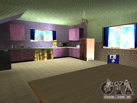 Novo edifício de 2 andares interior CJ para GTA San Andreas oitavo tela