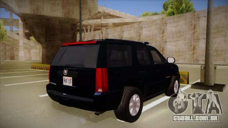 Cadillac Escalade 2011 FBI para GTA San Andreas vista direita