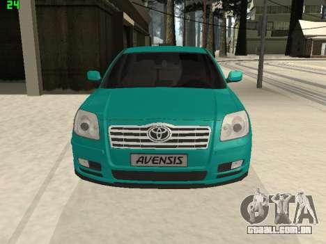Toyota Avensis 2.0 16v VVT-i D4 Executive para GTA San Andreas vista direita