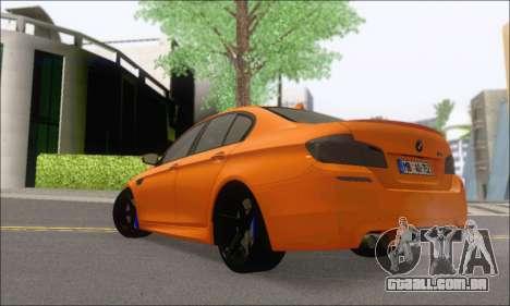 BMW M5 Vossen para GTA San Andreas traseira esquerda vista