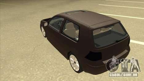 VW Golf 4 Tuned para GTA San Andreas vista traseira