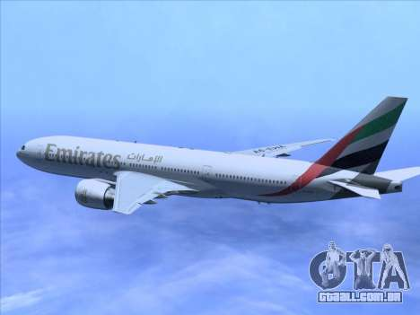 Boeing 777-21HLR Emirates para vista lateral GTA San Andreas