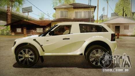 Bowler EXR S 2012 HQLM para GTA San Andreas esquerda vista