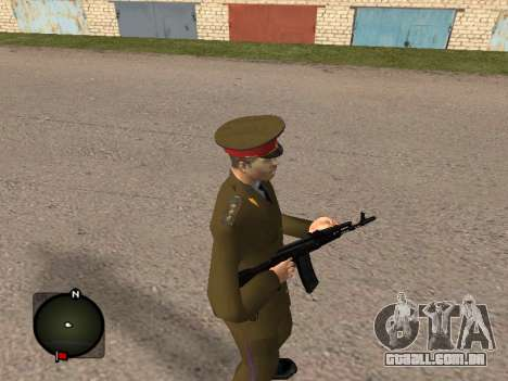 Major-General do exército russo para GTA San Andreas segunda tela