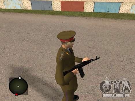 Major-General do exército russo para GTA San Andreas segunda tela
