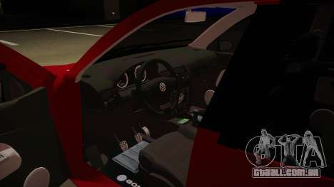 VW Golf GTI 2008 para GTA San Andreas vista interior