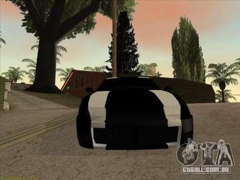 New Jester para GTA San Andreas traseira esquerda vista