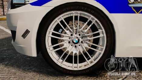 BMW M5 Croatian Police [ELS] para GTA 4 vista de volta