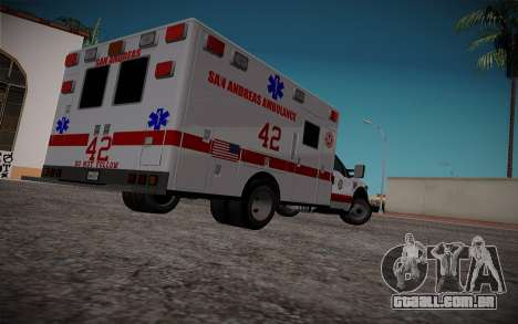Ford F350 Super Duty San Andreas Emerency Medica para GTA San Andreas traseira esquerda vista