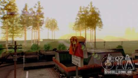 Caligraphic ENB v1.0 para GTA San Andreas quinto tela