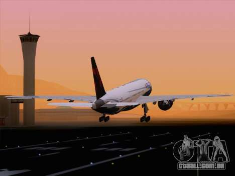 Boeing 777-200ER Delta Air Lines para GTA San Andreas interior
