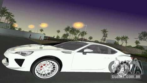 Subaru BRZ Type 2 para GTA Vice City vista lateral