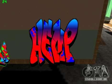 Graffity mod para GTA San Andreas por diante tela