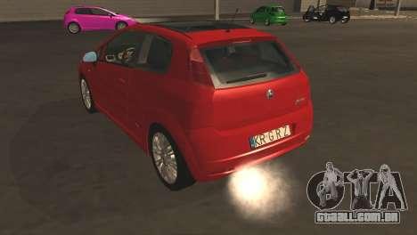 Fiat Grande Punto para GTA San Andreas vista superior