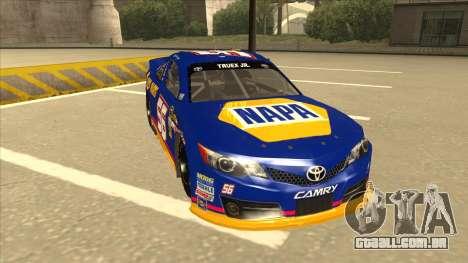 Toyota Camry NASCAR No. 56 NAPA para GTA San Andreas esquerda vista