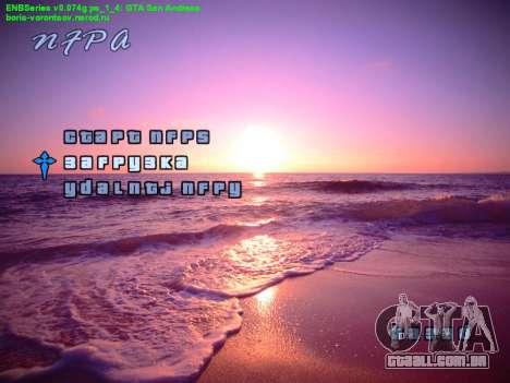 Novo menu para GTA San Andreas segunda tela