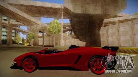 Lamborghini Aventador J V1 para GTA San Andreas traseira esquerda vista