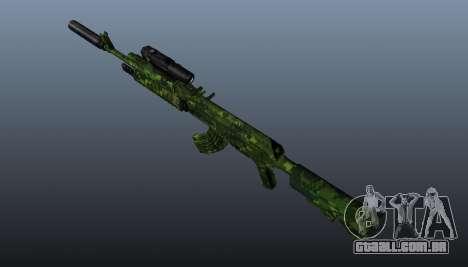 AK-74 em camuflagem para GTA 4 terceira tela