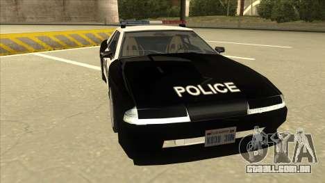 Elegy Police para GTA San Andreas esquerda vista