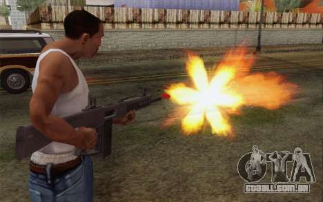 A shotgun AA-12 para GTA San Andreas terceira tela