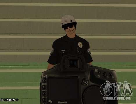 Los Angeles Air Support Division Pilot para GTA San Andreas quinto tela