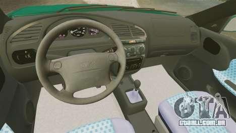 Daewoo Lanos 1997 Cabriolet Concept v2 para GTA 4 vista interior