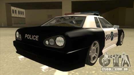 Elegy Police para GTA San Andreas vista direita