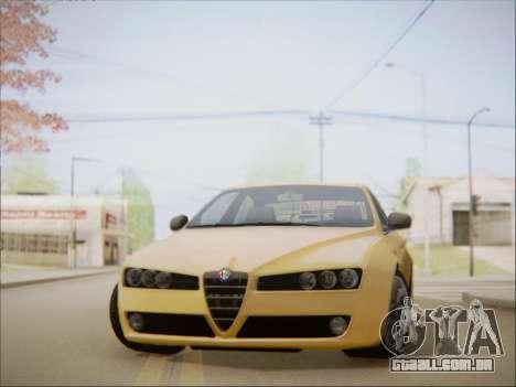 Alfa Romeo 159 Sedan para GTA San Andreas traseira esquerda vista