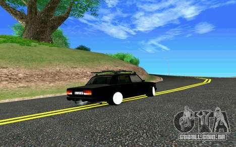 VAZ 2107 Riva para GTA San Andreas vista traseira