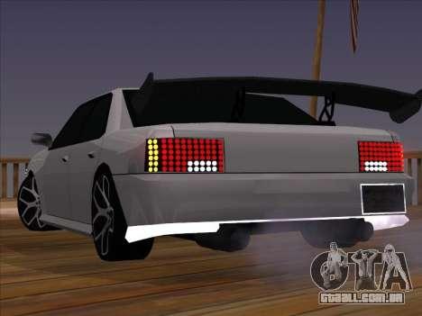 New Sultan para GTA San Andreas traseira esquerda vista