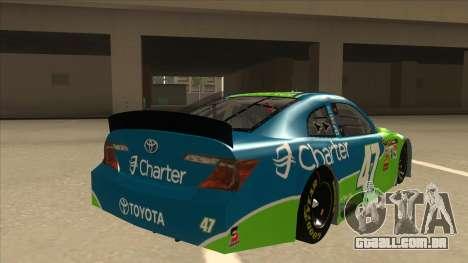 Toyota Camry NASCAR No. 47 Charter para GTA San Andreas vista direita