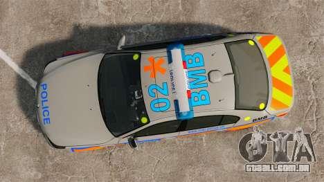 BMW M5 E60 Metropolitan Police 2006 ARV [ELS] para GTA 4 vista direita