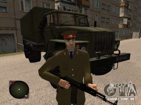 Major-General do exército russo para GTA San Andreas