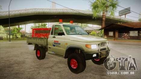 Água de reparação UAZ 2360 SA para GTA San Andreas vista traseira