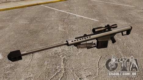 O Barrett M82 sniper rifle v1 para GTA 4 terceira tela