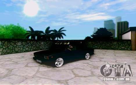 VAZ 2107 Riva para GTA San Andreas traseira esquerda vista