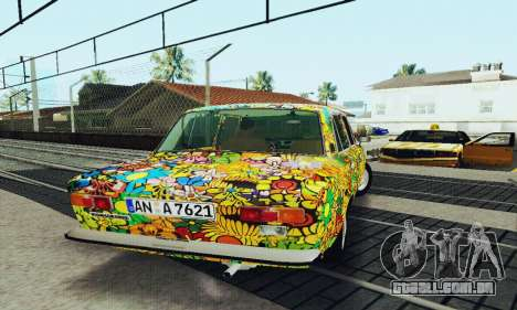 VAZ 21011 Hippie para vista lateral GTA San Andreas