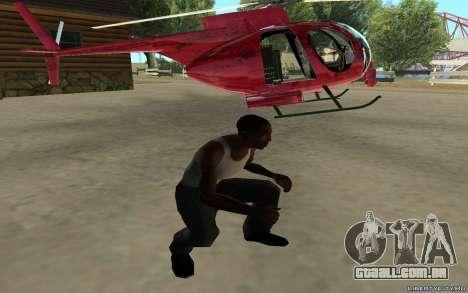 Buzzard Attack Chopper para GTA San Andreas traseira esquerda vista