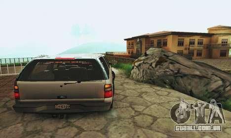 Chevrolet Suburban SAPD FBI para GTA San Andreas vista direita