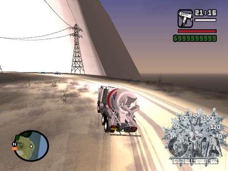 Velocímetro novo para GTA San Andreas por diante tela
