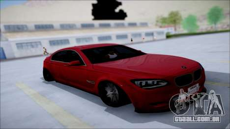 BMW 750 Li Vip Style para GTA San Andreas vista interior