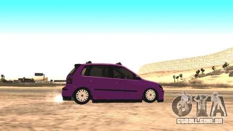 Volkswagen German Polo para GTA San Andreas esquerda vista